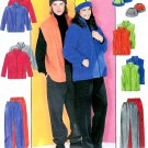 Fleece Jacket Pant Sewing Pattern Pullover Vest Coat Hat Easy Unisex Casual Ski S M L 3402