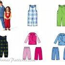 Easy Jumpsuit Pant Top Sewing Pattern Toddler Unisex Jacket Hoodie Coat Fleece Sweats 4 5 6 5508