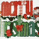 Merry Christmas Cross Stitch Kit Mouse Holiday Sweatshirt Waste Canvas Hancrafted Sugarplum Express