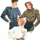 Vogue Sewing Pattern Blouse Jabot Pirate Ruffle Retro Mod Shirt Easy Designer Fashion 8-12 9656