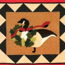 Christmas Goose Wall Hanging Sewing Pattern Quilted Patchwork Vintage Country Cabin Holiday Decor