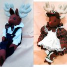 Plush Reindeer Sewing Pattern Shelf Sitter Boy Girl Stuffed Easy Christmas Winter Holiday Decor Toy