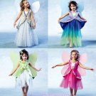 Girls Fairy Costume Sewing Pattern Wings Skirt Princess Halloween Dress Up 4887 6-7-8