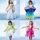 Girls Fairy Costume Sewing Pattern Wings Skirt Princess Halloween Dress Up 4887 6-7-8