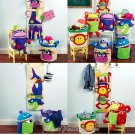 Fun Baskets Children Sew Pattern Wall Hanging Toy Storage Clothes Nursery Shark Giraffe Monkey 6624