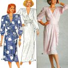 Mock Wrap Dress Sewing Pattern Draped Formal Evening Vintage Ankle Knee Length 14 3751