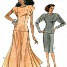 Vintage Vogue Sewing Pattern Drop Waist Dress Dolman Sleeve Princess Straight Flare Easy 14-18 9939