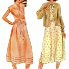 70's Sleeveless Dress Sewing Pattern Over Jacket Knee Length Pullover Vintage Retro Easy 12 6444