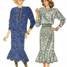 Drop Waist Dress Sewing Pattern Vintage Flapper Shaker Top Skirt Flounce Dolman Sleeve 8 10 12 4178