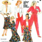 80's Gore Skirt Pants Top Sewing Pattern Easy Button Front Boy Shirt Vintage 14 2316