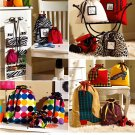 Jewelry Roll Drawstring Bag Sewing Pattern Tote Duffel Organizers Travel Storage Gym 2667