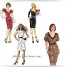 Trendy Dress Sewing Pattern Mid Knee Straight Skirt Belted Sexy Fit 6-14 5753