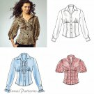 Ruffle Shirt Sewing Pattern Trendy Princess Seams Pirate Peasant Fitted Bodice Easy 6-12 5522