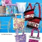 Totes Handbags Sewing Pattern Easy Bucket Book Bag Girl Teen Pockets 2779