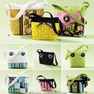 Handbag Tote Sewing Pattern Quilted Patchwork Bucket Long Handle 2277