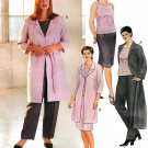 Plus Size Suit Sewing Pattern Pant Skirt Jacket Tank Easy Wardrobe Unlined Coat 18-42 2873