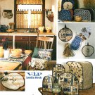Kitchen Appliances Sewing Pattern Blender Toaster Cover Curtain Potholder Hot Pad Runner Mitt 8437