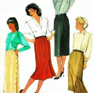Pencil Skirt Sewing Pattern Vintage Trumpet Gore Pleated Kick Pleat Wrap Easy Slim Fit 14 6234
