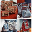 Tote Bags Sewing Pattern Easy Travel Make-up Backpack Purse Cosmetics Quilted 9779
