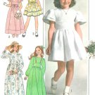 Vintage Sewing Pattern Girl Dress Long Short 70s Hippie Raised Fitted Bodice 7/8 7954