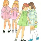 Vintage Sewing Pattern Girl Dress Sleeveless Jumper Coat Cape Princess Seam Easy 6 7410