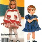 Toddler Girl Pinafore Dress Pattern Vintage Short Long Sleeve Ruffle Church Pageant Size 3 2794