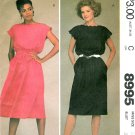 McCalls Easy Dress Sewing Pattern Vintage Boat Neck Sleeveless Pullover Extended Shoulder 12 8995