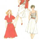 Wrap Front Shirt Gathered Skirt Sewing Pattern Vintage 80s Tank Top Cami Kimono Sleeve 10 12 14 5089