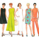 Misses Tunic Dress Tops Sewing Pattern Sleeveless Pull On Pants Easy Spring Summer 6-10 4545