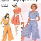 Culotte Jumpsuit Dress Sewing Pattern 2 Lengths Square Neck Easy Short Long Sleeve 10-18 7317