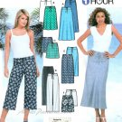 Drawstring Skirt Pant Sewing Pattern Shorts Capri Easy Summer Spring Knit Clothing 6-12 7229