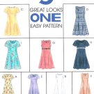 Easy Dress Sewing Pattern Short Sleeve Sleeveless Raised Bodice Princess Seams 10 12 14 8107