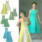 McClintock Sewing Pattern Girls Plus Dress Formal Wedding Sleeveless Laced Back 8-16 4570