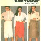 Wrap Skirt Sewing Pattern Vintage Easy Below Knee Zipper 12 6899