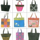 Tote Bag Sewing Pattern Bucket Handbag Carry-All Bookbag Shopper Beach Gym Baby 9963