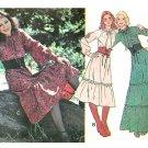 Peasant Prairie Dress Sewing Pattern Pirate Hippie Mod Vintage Long Short Pullover 10 12 5761