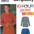 Womens Jacket Coat Sewing Pattern Easy Princess Seams Semi Fitted Hip Bolero No Collar 8-14 9082
