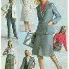 Tailored Suit Sewing Pattern Skirt Jacket Shirt Pants Vintage Slim Leisure 80s 14 9715