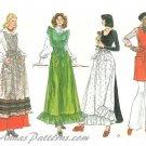 Retro Apron Sewing Pattern Vintage Vogue Long Short Half Pinafore 12 14 9050 70s Uncut