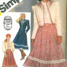 Gunne Sax Sewing Pattern Skirt Quilted Bolero Jacket Ruffle Shirt Western Square Dance Uncut 10 5491