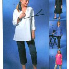 Maternity Plus Pants Tunic Top Sewing Pattern Easy Dress Capri Long Short Sleeve 16-22 Uncut 4315
