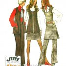 Retro Pantsuit Sewing Pattern Tunic Jumper Pants Vest Size 14 Uncut 70s Hippie Mod 5192