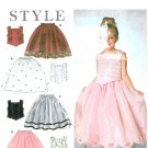 Girls Princess Dress Sewing Pattern Skirt Top Party Bridal Wedding Holiday Special Occasion 3-8 9457