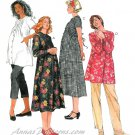 Maternity Clothes Sewing Pattern Dress Pants Top Capri Button Front 8-12 8342