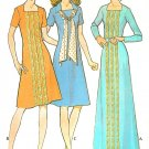 1970's Funky Dress Sewing Pattern Scarf Knee Maxi Short Long Sleeve Square Neck Airline 10 3165