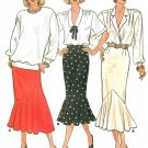Flounce Skirt Sewing Pattern Fitted Flared Ruffle 80s Vintage Sexy Fit 8-12 Uncut 3975