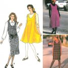 Easy Jumper Dress Sewing Pattern Pullover Knee Above Calf U-Neck 6-24 7433