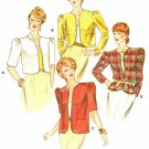 Bolero Jacket Coat Sewing Pattern Vintage Short Waist Long Elbow Sleeves Lined 12-16 4298