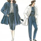 Vintage Vogue Swing Coat Sewing Pattern Skirt Pants Unlined Jacket Retro Mod 14-18 7107