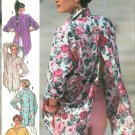 Oversize Shirt Top Sewing Pattern Misses Button Front Back Open Retro Vintage 14 16 7329